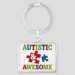 Autistic Awesome Landscape Keychain