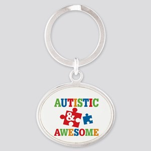 Autistic Awesome Oval Keychain