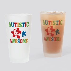 Autistic Awesome Drinking Glass