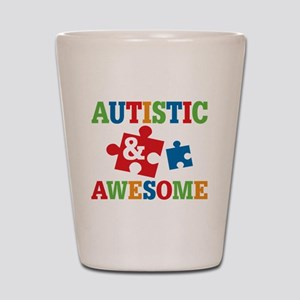 Autistic Awesome Shot Glass
