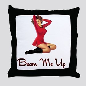 Sci Fi Pin up for white background Throw Pillow
