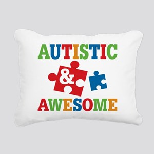 Autistic Awesome Rectangular Canvas Pillow