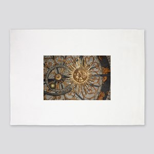Astrological clockface 5'x7'Area Rug