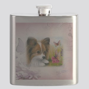 Dog 123 Papillon Flask