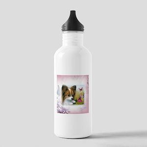 Dog 123 Papillon Water Bottle