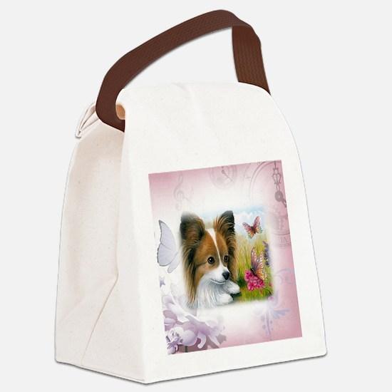 Dog 123 Papillon Canvas Lunch Bag