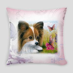 Dog 123 Papillon Everyday Pillow