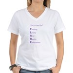 WHAT IS A LUPUS FLARE? Women's V-Neck T-Shirt
