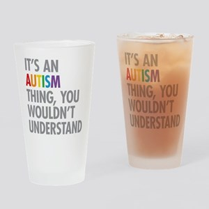 Autism Thing Drinking Glass