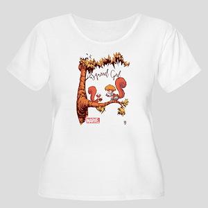 Squirrel Girl Women's Plus Size Scoop Neck T-Shirt