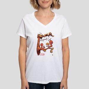 Squirrel Girl Branch Women's V-Neck T-Shirt