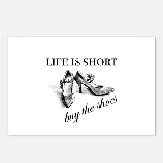 Life is Short, Buy the Sh Postcards (Package of 8)