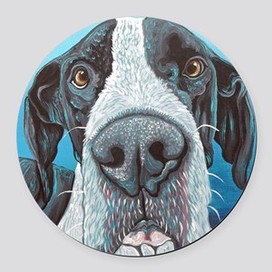 Great Dane Round Car Magnet