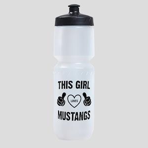 THIS GIRL LOVES MUSTANGS Sports Bottle