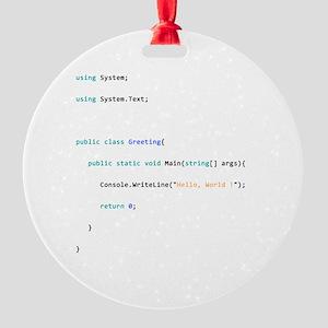 Hello world Round Ornament