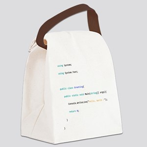 Hello world Canvas Lunch Bag