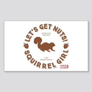 Squirrel Girl Let's Get Nuts Sticker (Rectangle)