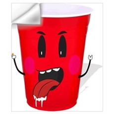 Cups playing beer pong Wall Decal