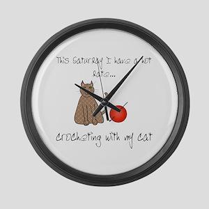 crochetcat Large Wall Clock
