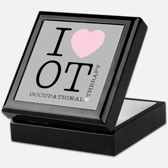 OT I Love OT Occupational Therapy Keepsake Box