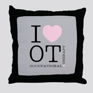 OT I Love OT Occupational Therapy Throw Pillow