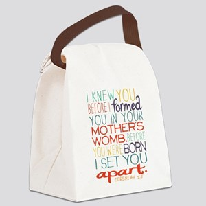 I KNEW YOU BEFORE YOU WERE BORN! Canvas Lunch Bag