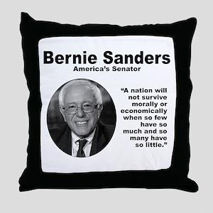 Sanders: Survive Throw Pillow