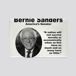 Sanders: Survive Rectangle Magnet