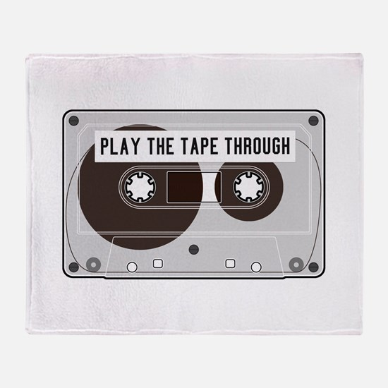 Play the Tape Throw Blanket