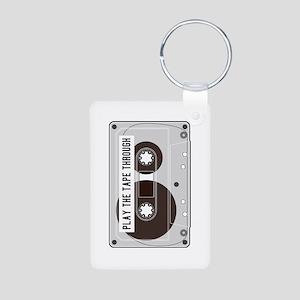 Play the Tape Aluminum Photo Keychain
