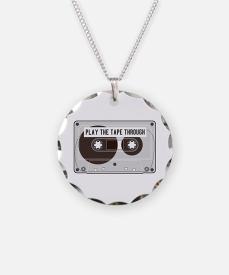 Play the Tape Necklace Circle Charm