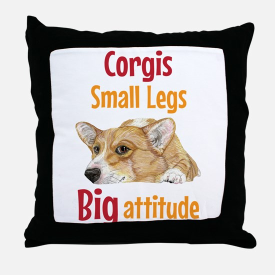 Big Attitude Throw Pillow