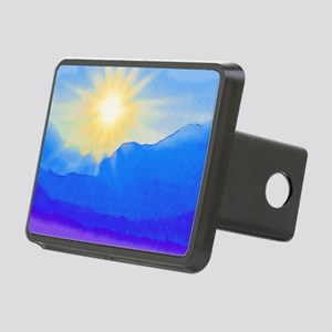 Watercolor Sunrise Rectangular Hitch Cover