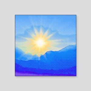 "Watercolor Sunrise Square Sticker 3"" x 3"""