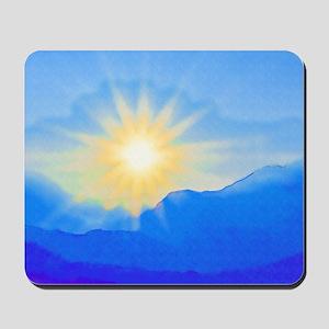 Watercolor Sunrise Mousepad