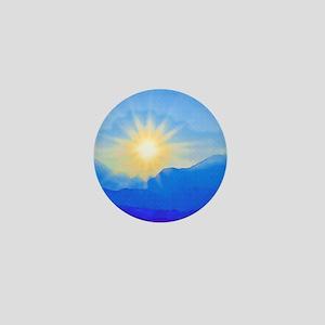 Watercolor Sunrise Mini Button