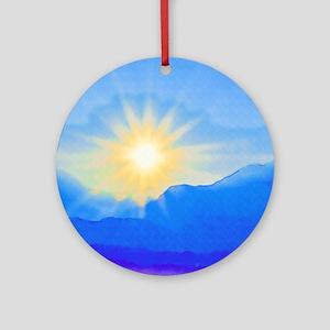 Watercolor Sunrise Round Ornament