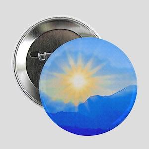 """Watercolor Sunrise 2.25"""" Button"""
