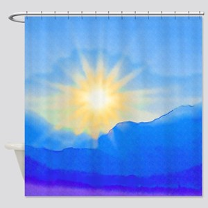 Watercolor Sunrise Shower Curtain