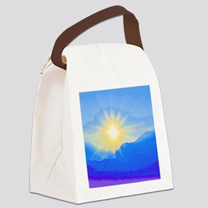Watercolor Sunrise Canvas Lunch Bag