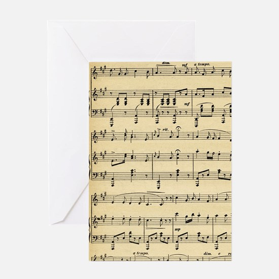 Antique Sheet Music Greeting Cards