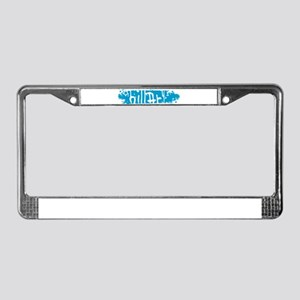 hillary blueScratch License Plate Frame