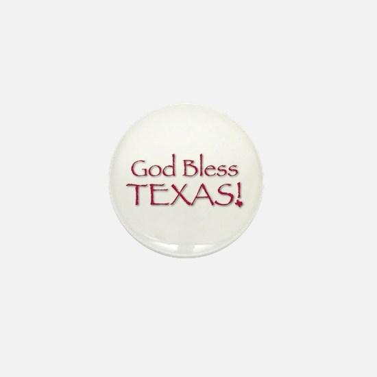 God Bless Texas! Mini Button