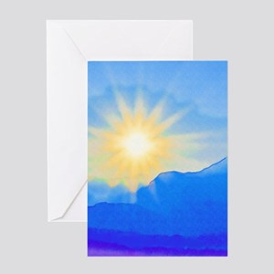 Sunrise greeting cards cafepress watercolor sunrise greeting cards m4hsunfo