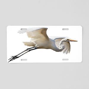 Helaine's Soaring Egret Aluminum License Plate