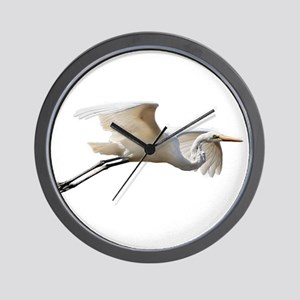 Helaine's Soaring Egret Wall Clock