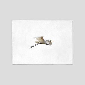 Helaine's Soaring Egret 5'x7'Area Rug