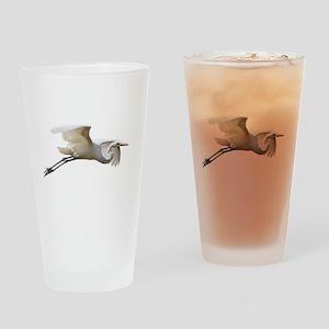 Helaine's Soaring Egret Drinking Glass