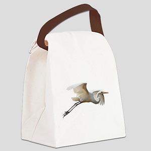 Helaine's Soaring Egret Canvas Lunch Bag