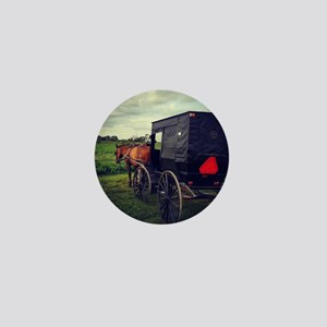 Amish Horse and Buggy Mini Button